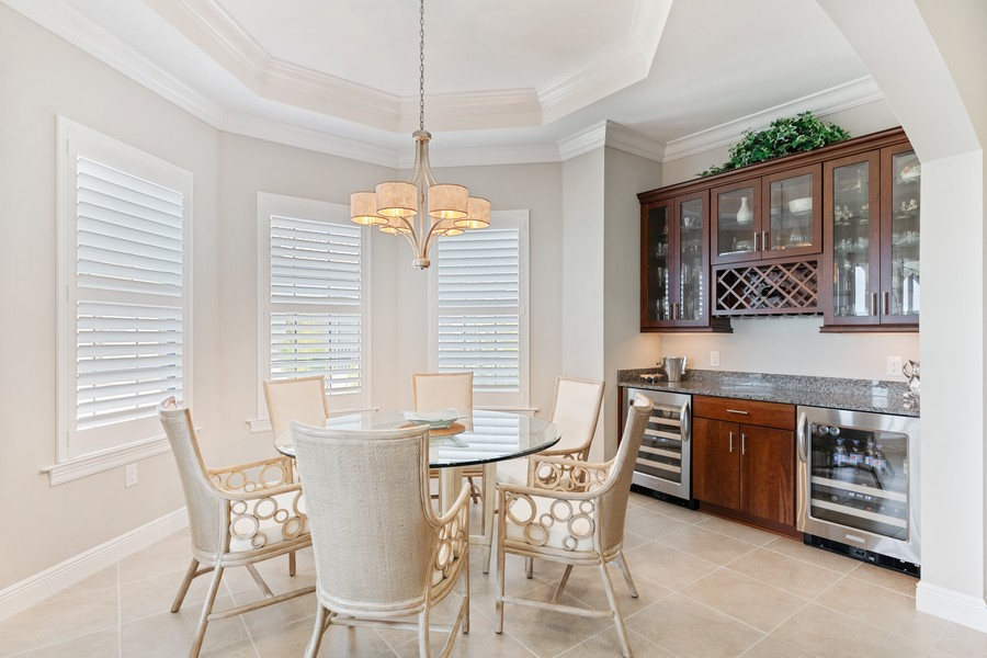 Real Estate Photography - 2768 Tiburon Blvd E, #302, Naples, FL, 34109 - Dining Room
