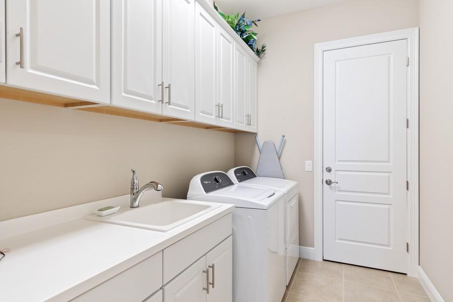 Real Estate Photography - 2768 Tiburon Blvd E, #302, Naples, FL, 34109 - Laundry Room