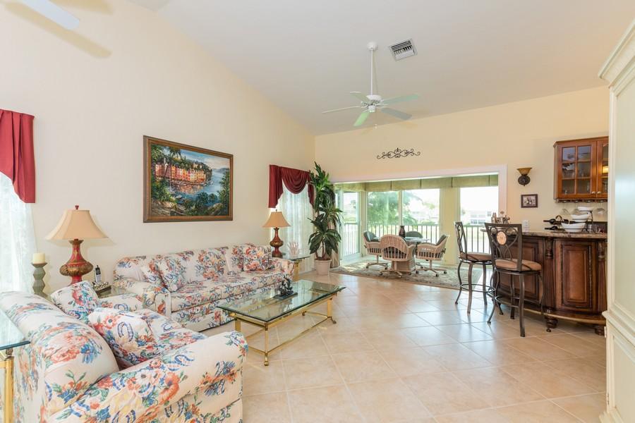 Real Estate Photography - 13141 Hamilton Harbour Drive P-1, Naples, FL, 34110 - Living Room
