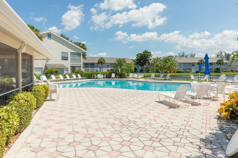 Real Estate Photography - 13141 Hamilton Harbour Drive P-1, Naples, FL, 34110 - Pool