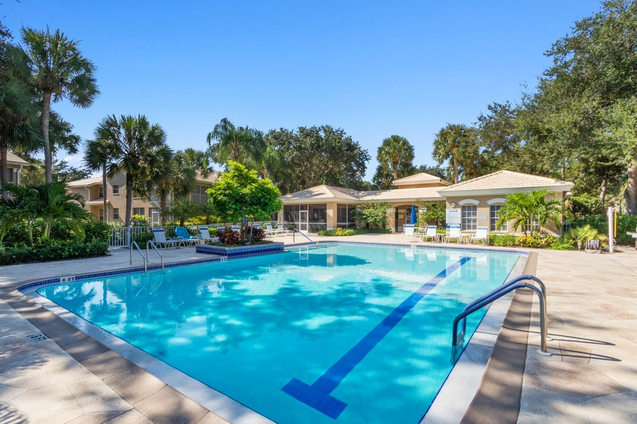 Real Estate Photography - 24796 Lakemont Cove Ln, 101, Bonita Springs, FL, 34134 - Pool
