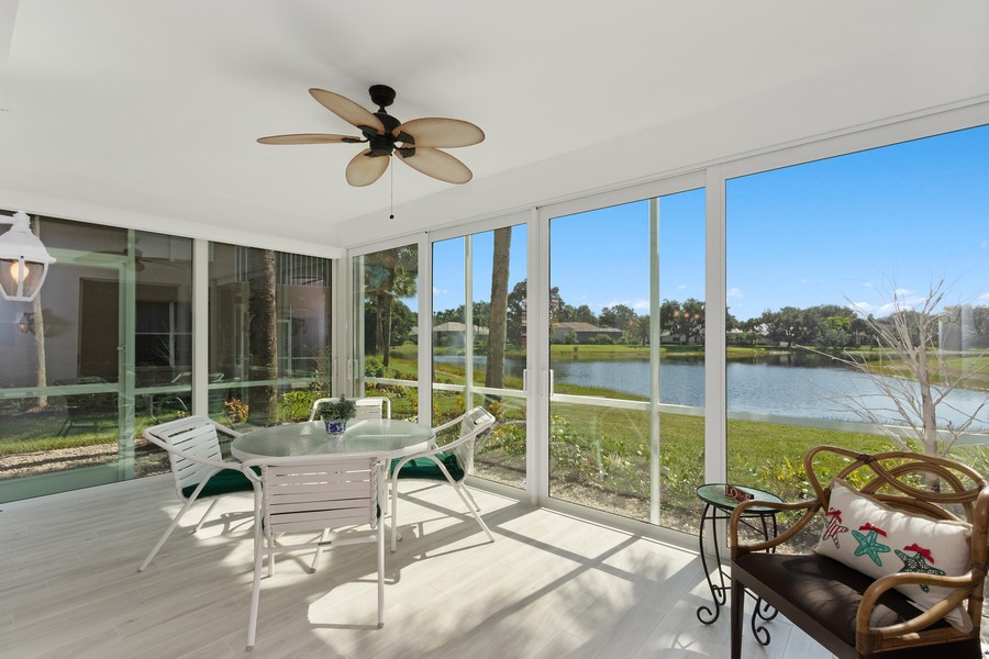 Real Estate Photography - 24796 Lakemont Cove Ln, 101, Bonita Springs, FL, 34134 - Lanai
