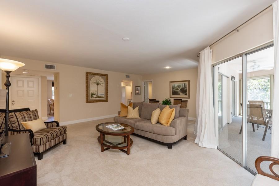 Real Estate Photography - 3200 Binnacle Drive, F3, Naples, FL, 34103 - Living Room
