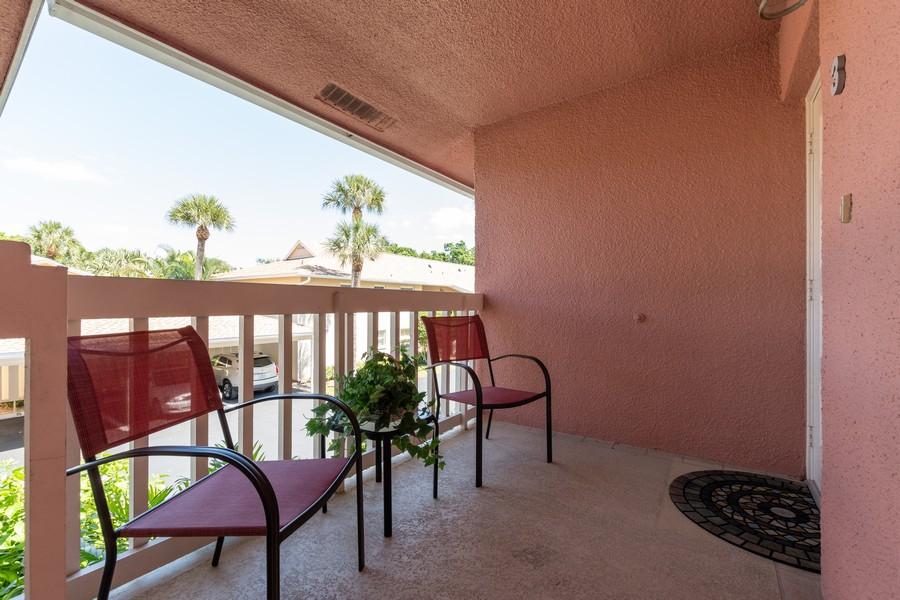 Real Estate Photography - 3200 Binnacle Drive, F3, Naples, FL, 34103 - Front Balcony