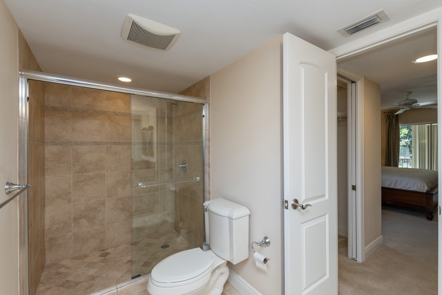 Real Estate Photography - 3200 Binnacle Drive, F3, Naples, FL, 34103 - Master Bathroom