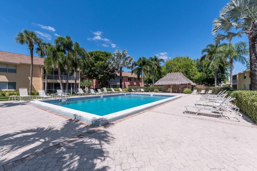 Real Estate Photography - 3200 Binnacle Drive, F3, Naples, FL, 34103 - Pool