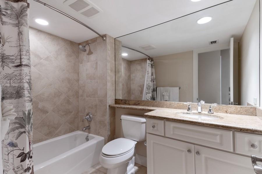 Real Estate Photography - 3200 Binnacle Drive, F3, Naples, FL, 34103 - Guest Bath