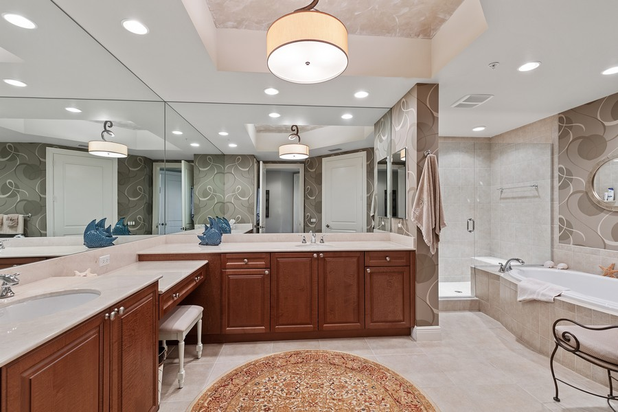 Real Estate Photography - 24011 Via Castella Dr., #2101, Bonita Springs, FL, 34134 - Master Bathroom