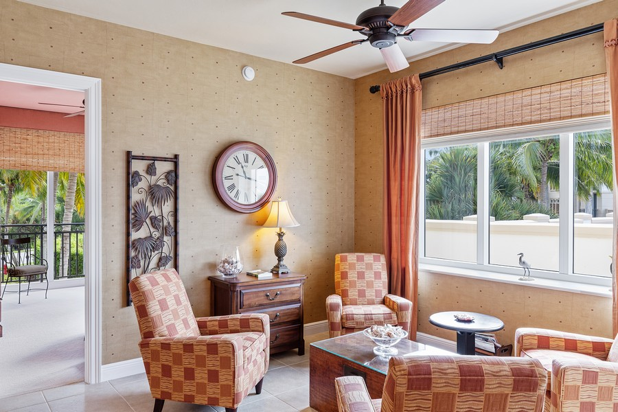 Real Estate Photography - 24011 Via Castella Dr., #2101, Bonita Springs, FL, 34134 - Sitting Room
