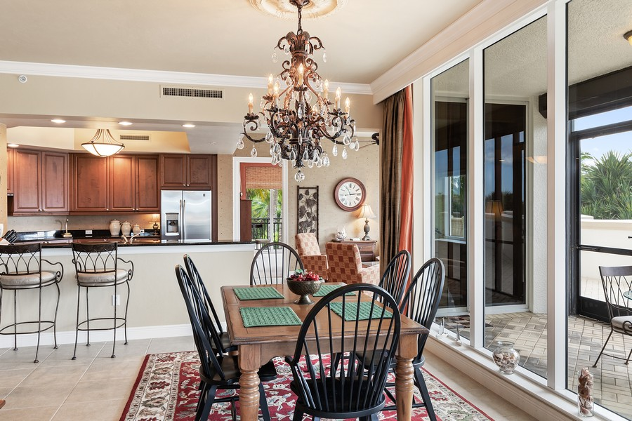 Real Estate Photography - 24011 Via Castella Dr., #2101, Bonita Springs, FL, 34134 - Breakfast Area