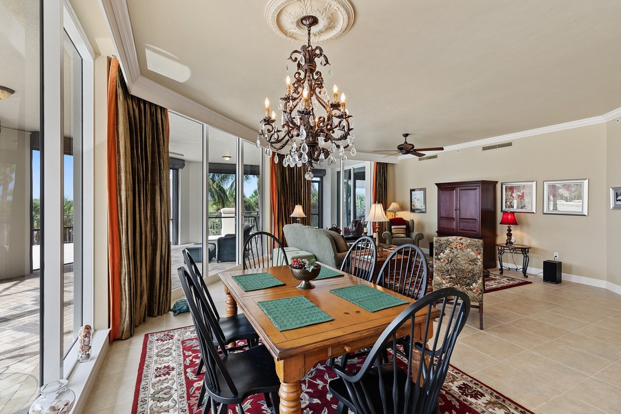 Real Estate Photography - 24011 Via Castella Dr., #2101, Bonita Springs, FL, 34134 - Dining Area