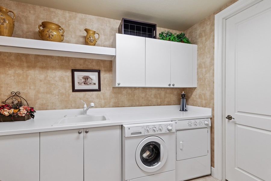 Real Estate Photography - 24011 Via Castella Dr., #2101, Bonita Springs, FL, 34134 - Laundry Room