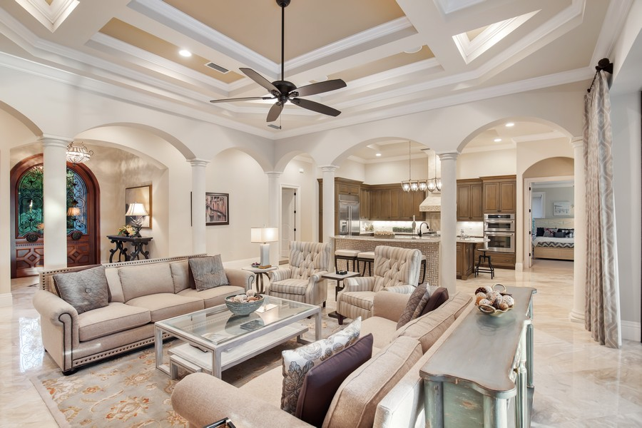 Real Estate Photography - 16659 PISTOIA WAY, Naples, FL, 34110 - Living Room