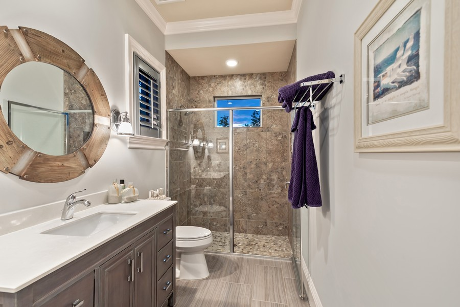 Real Estate Photography - 16659 PISTOIA WAY, Naples, FL, 34110 - 4th Bathroom