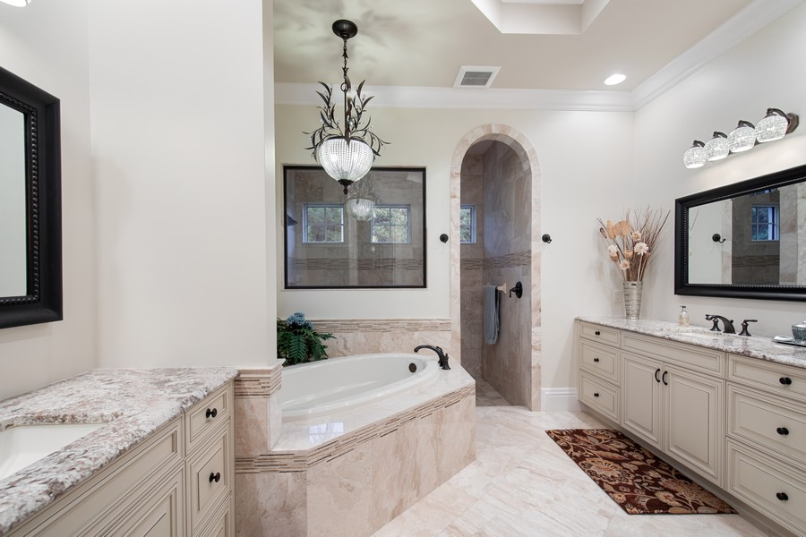 Real Estate Photography - 16659 PISTOIA WAY, Naples, FL, 34110 - Master Bathroom