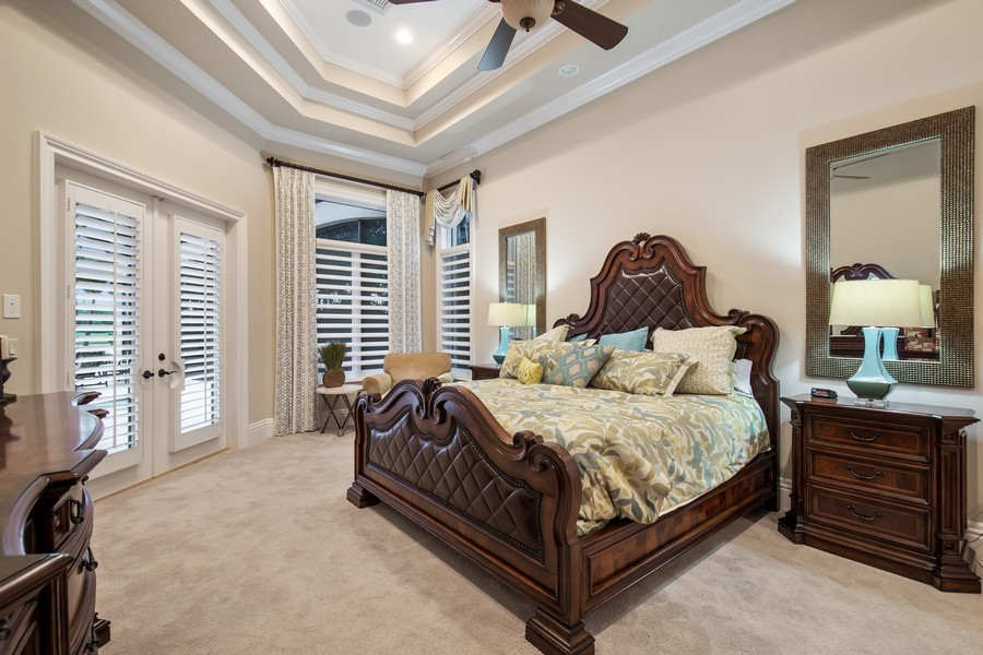 Real Estate Photography - 16659 PISTOIA WAY, Naples, FL, 34110 - Master Bedroom
