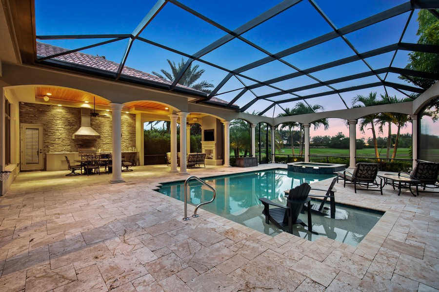 Real Estate Photography - 16659 PISTOIA WAY, Naples, FL, 34110 - Pool