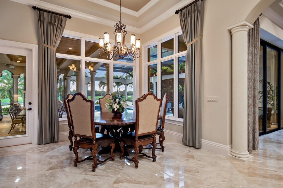 Real Estate Photography - 16659 PISTOIA WAY, Naples, FL, 34110 - Breakfast Area