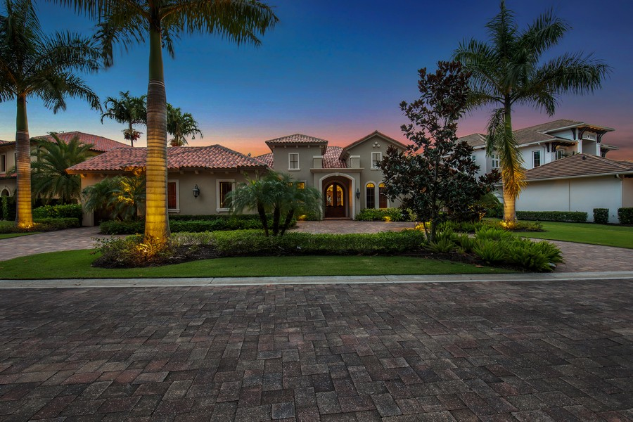 Real Estate Photography - 16659 PISTOIA WAY, Naples, FL, 34110 - Front View