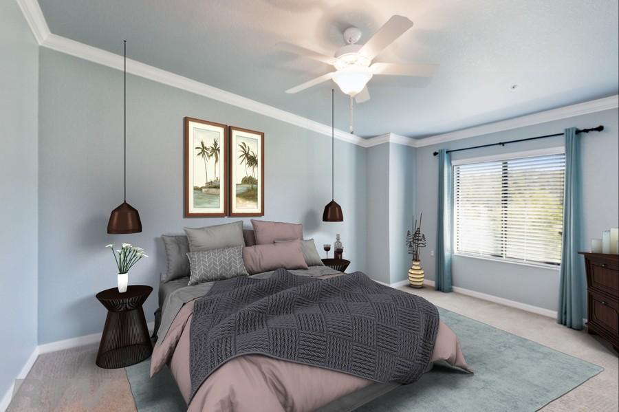 Real Estate Photography - 17980 Bonita National Blvd #1922, Bonita Springs, FL, 34135 - Master Bedroom (Virtually Staged)