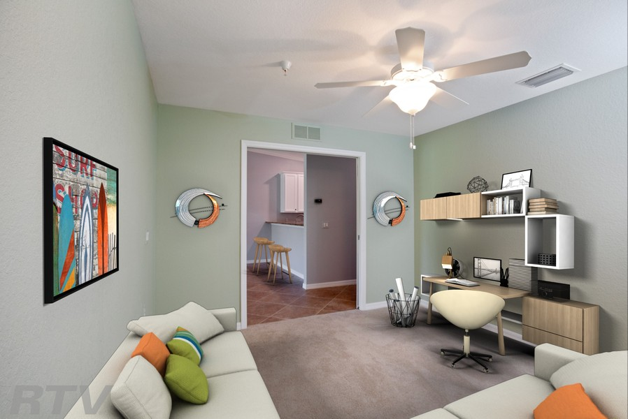 Real Estate Photography - 17980 Bonita National Blvd #1922, Bonita Springs, FL, 34135 - Den (Virtually Staged)