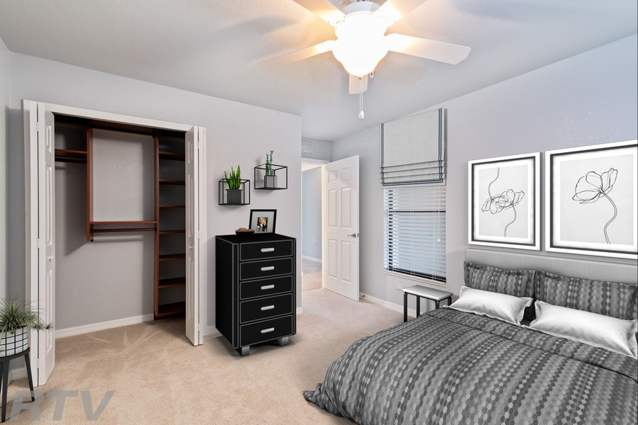 Real Estate Photography - 17980 Bonita National Blvd #1922, Bonita Springs, FL, 34135 - 2nd Bedroom (Virtually Staged)