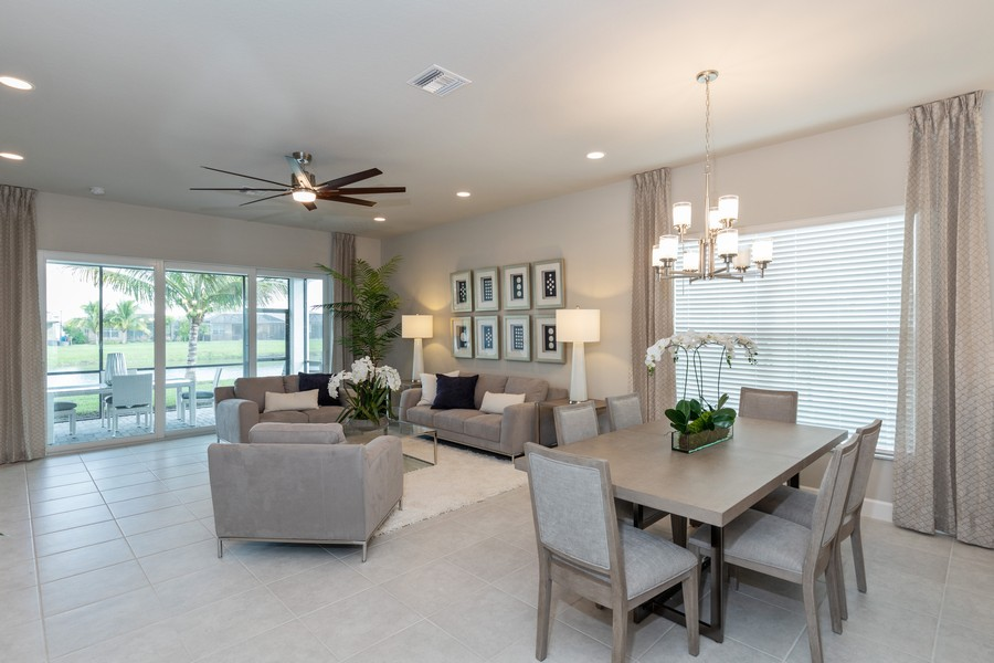 Real Estate Photography - 28437 Capraia Dr, Bonita Springs, FL, 34135 - Living Room/Dining Room