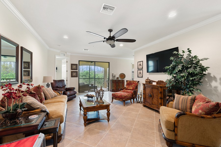 Real Estate Photography - 28005 Cookstown Ct, Unit 3403, Bonita Springs, FL, 34135 - Living Room