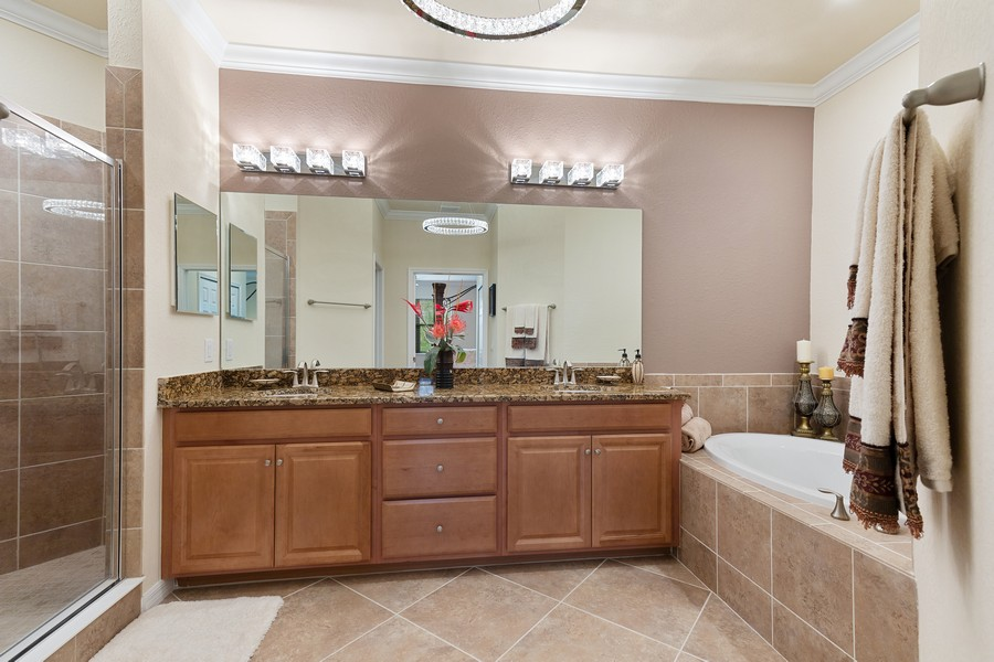 Real Estate Photography - 28005 Cookstown Ct, Unit 3403, Bonita Springs, FL, 34135 - Master Bathroom