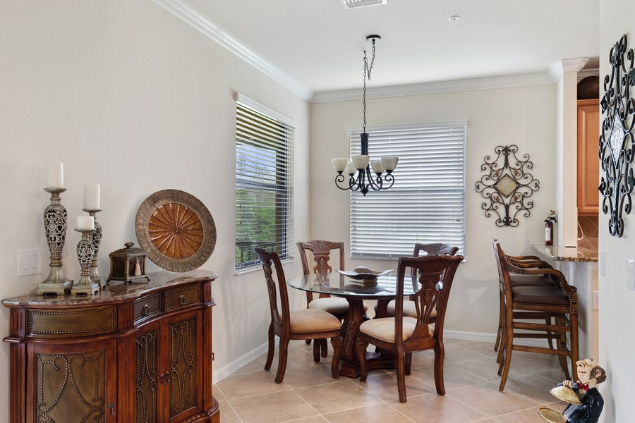 Real Estate Photography - 28005 Cookstown Ct, Unit 3403, Bonita Springs, FL, 34135 - Dining Area