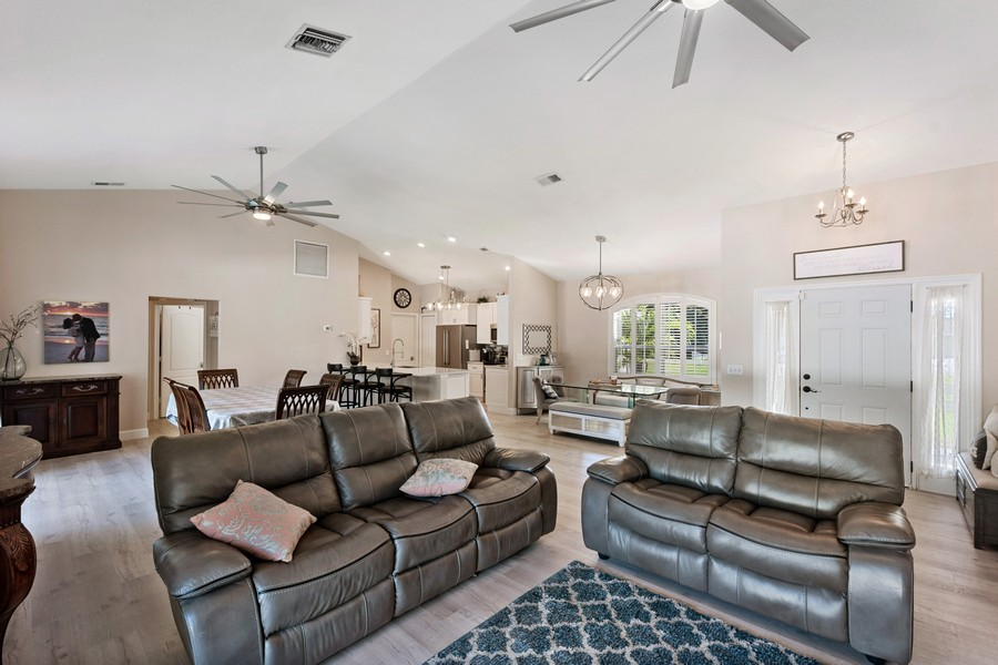 Real Estate Photography - 6061 Waxmyrtle Way, Naples, FL, 34109 - Living Room