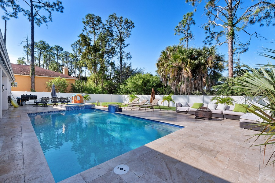 Real Estate Photography - 6061 Waxmyrtle Way, Naples, FL, 34109 - Pool