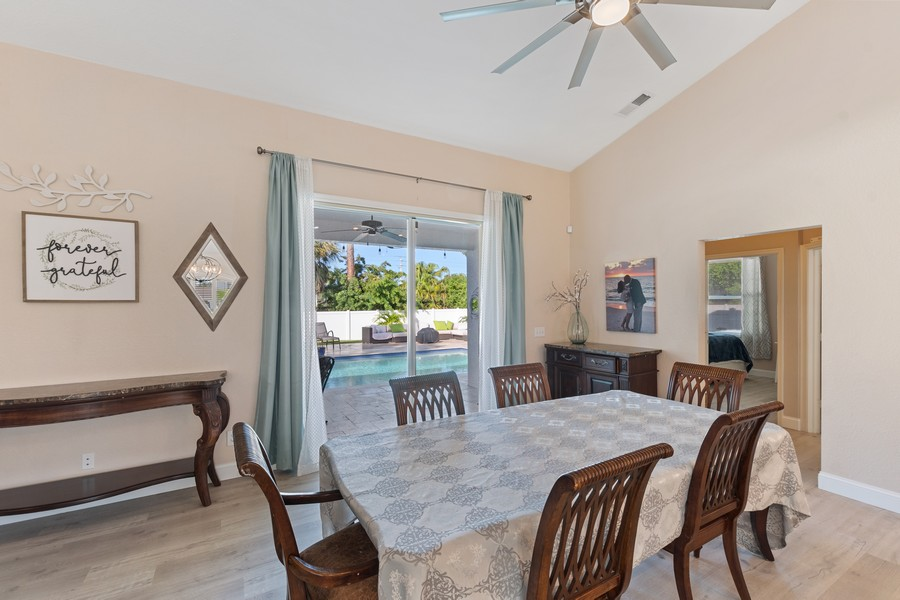 Real Estate Photography - 6061 Waxmyrtle Way, Naples, FL, 34109 - Dining Area