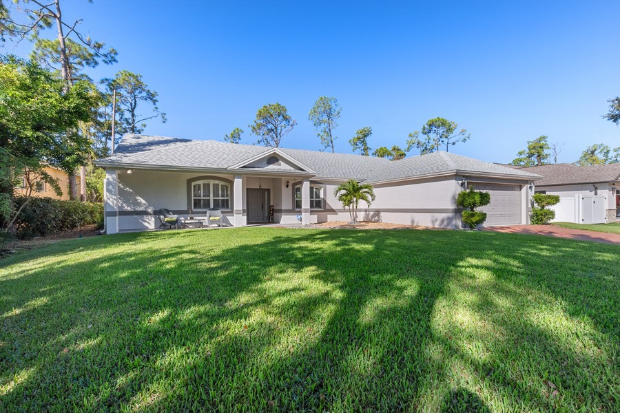 Real Estate Photography - 6061 Waxmyrtle Way, Naples, FL, 34109 - Front View