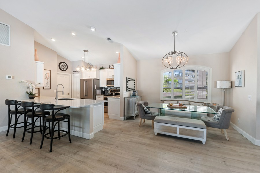 Real Estate Photography - 6061 Waxmyrtle Way, Naples, FL, 34109 - Kitchen / Dining Room
