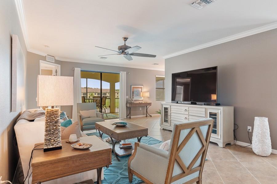 Real Estate Photography - 28091 cookstown ct #4303, Bonita Springs, FL, 34135 - Living Room