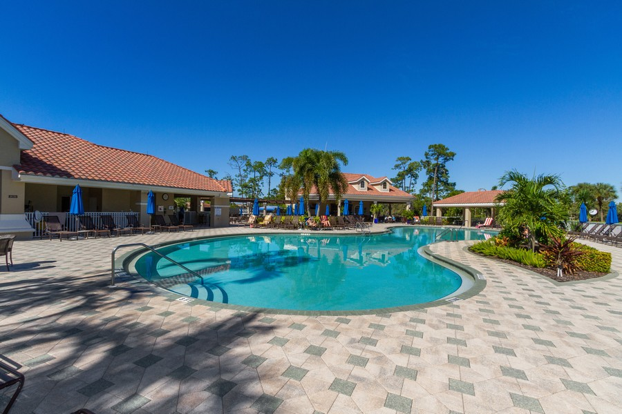 Real Estate Photography - 8447 Radcliffe Ter, Unit 203, Naples, FL, 34120 - Outdoor Pool
