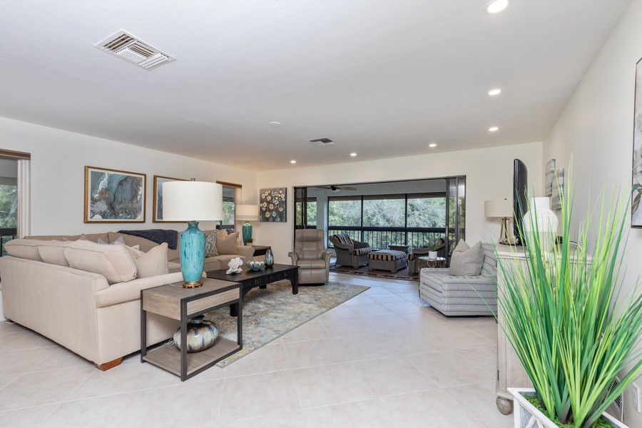 Real Estate Photography - 100 Wyndemere Way 301, Naples, FL, 34105 - Living Room