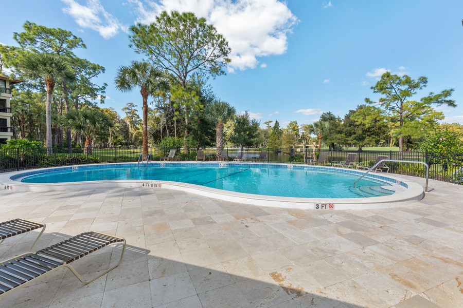 Real Estate Photography - 100 Wyndemere Way 301, Naples, FL, 34105 - Pool