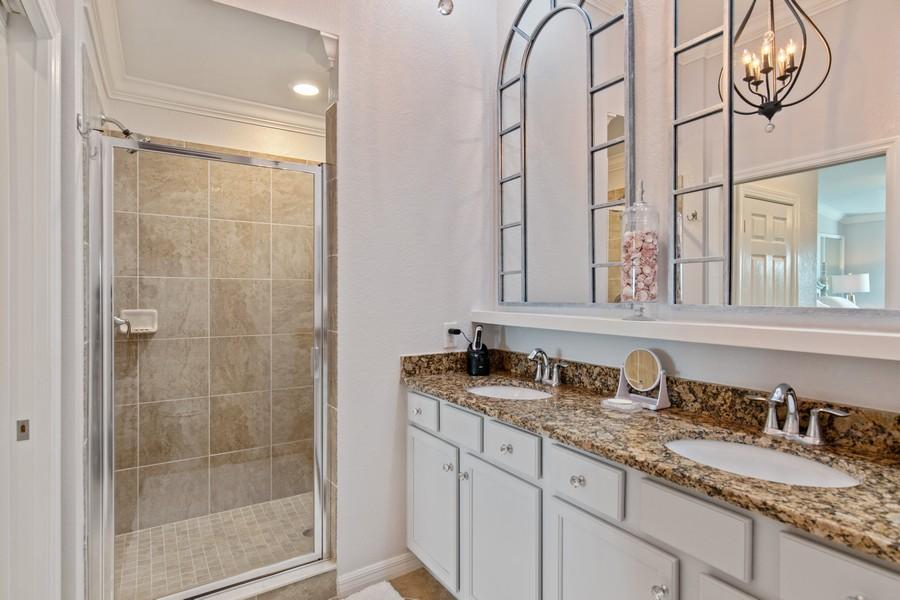 Real Estate Photography - 28022 BRIDGETOWN CT #4825, BONITA SPRINGS, FL, 34135 - Master Bathroom