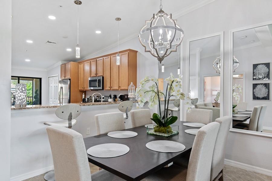 Real Estate Photography - 28022 BRIDGETOWN CT #4825, BONITA SPRINGS, FL, 34135 - Dining Room