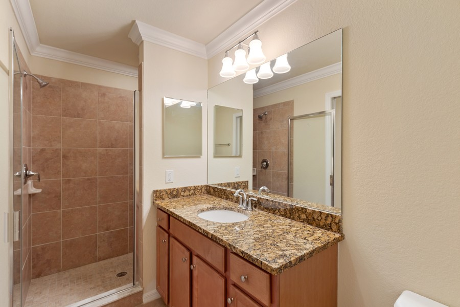 Real Estate Photography - 17941 BONITA NATIONAL BLVD. 323, BONITA SPRINGS, FL, 34135 - Master Bathroom