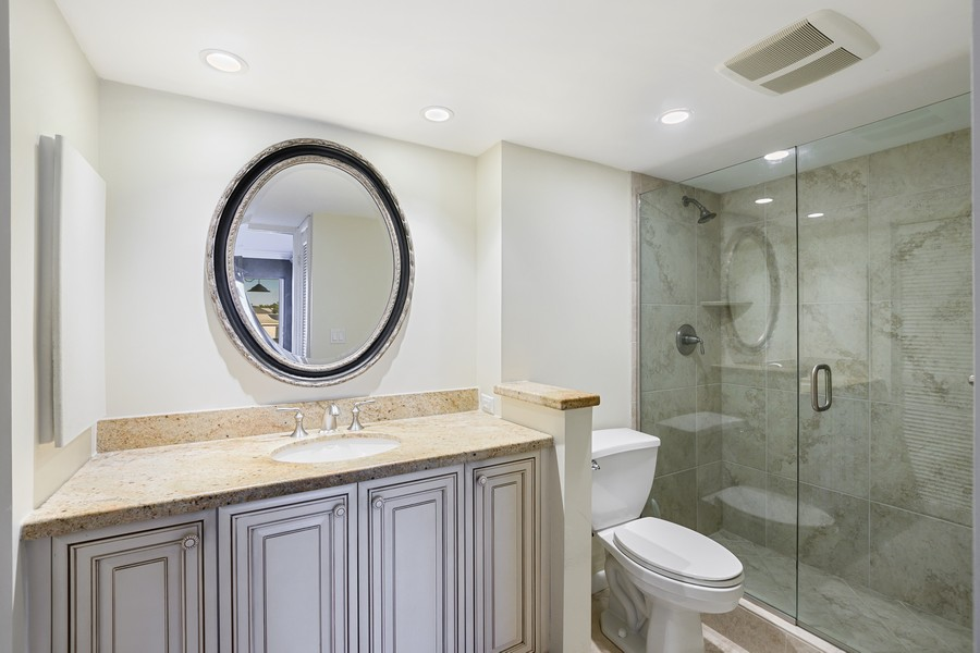 Real Estate Photography - 3410 Gulf Shore Blvd N, 301, Naples, FL, 34103 - Master Bathroom