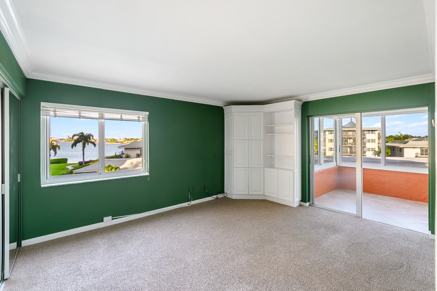 Real Estate Photography - 3410 Gulf Shore Blvd N, 301, Naples, FL, 34103 - Master Bedroom