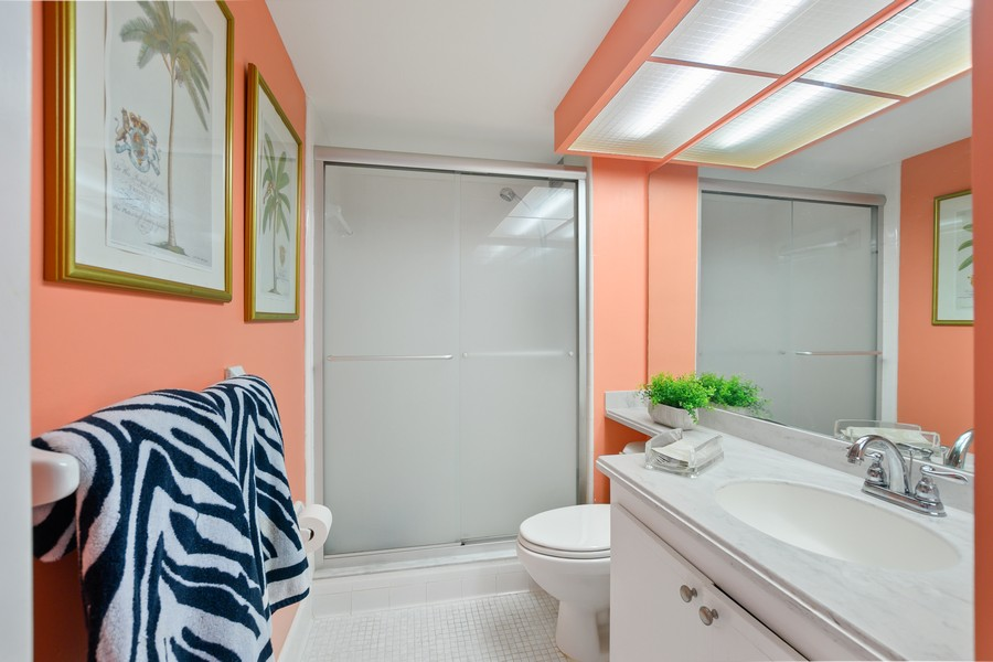 Real Estate Photography - 2150 Gulf Shore Blvd N, 601, Naples, FL, 34102 - Master Bathroom