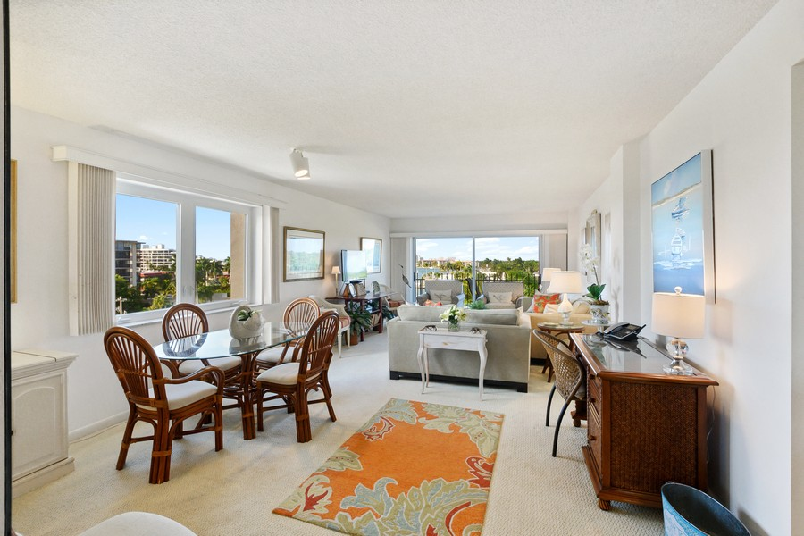 Real Estate Photography - 2150 Gulf Shore Blvd N, 601, Naples, FL, 34102 - Living Room/Dining Room