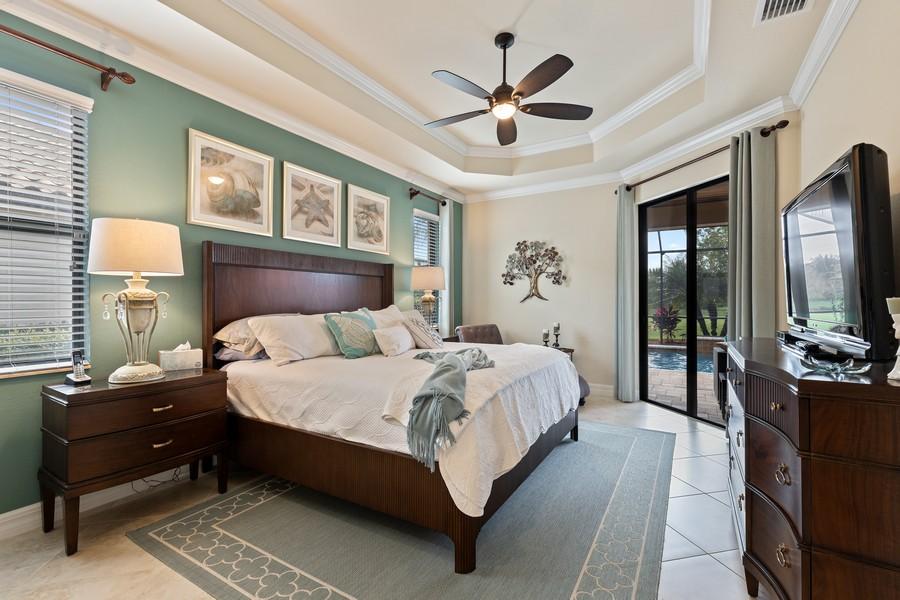 Real Estate Photography - 28522 Westmeath Ct, Bonita Springs, FL, 34135 - Master Bedroom