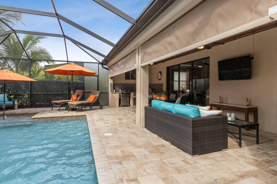 Real Estate Photography - 28522 Westmeath Ct, Bonita Springs, FL, 34135 - Pool