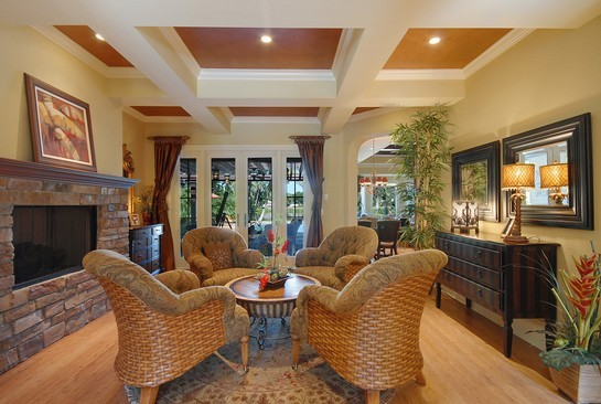 Real Estate Photography - 605 Bougainvillea Rd, Naples, FL, 34102 - Living Room