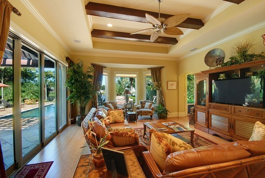 Real Estate Photography - 605 Bougainvillea Rd, Naples, FL, 34102 - Family Room